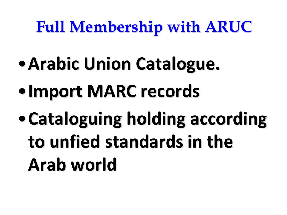 Full Membership with ARUC