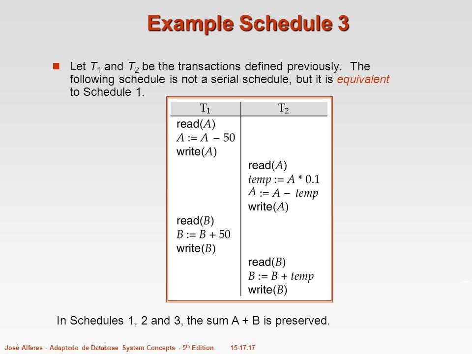 Example Schedule 3