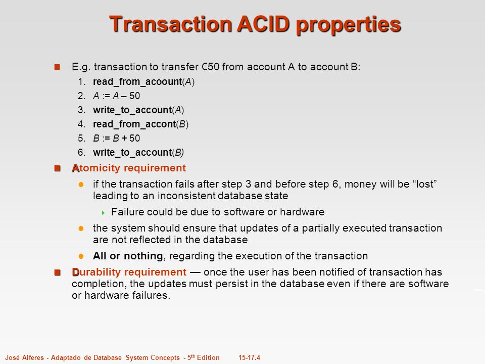 Transaction ACID properties