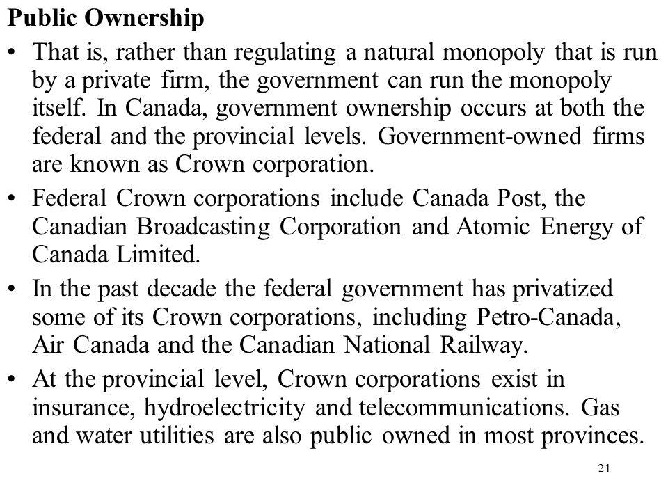 Public Ownership