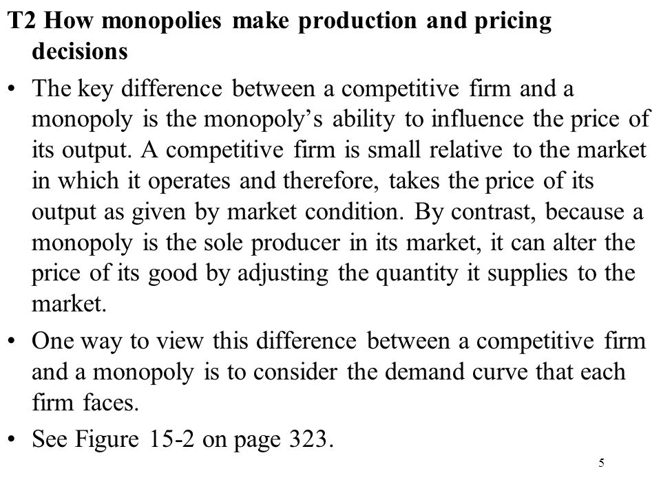T2 How monopolies make production and pricing decisions