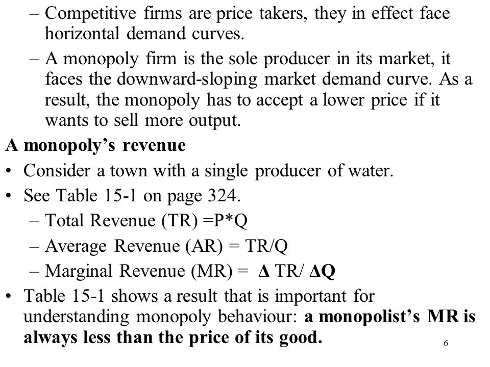Competitive firms are price takers, they in effect face horizontal demand curves.