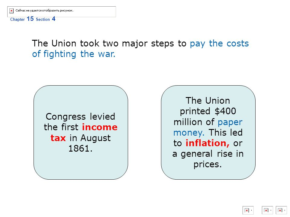 Congress levied the first income tax in August 1861.