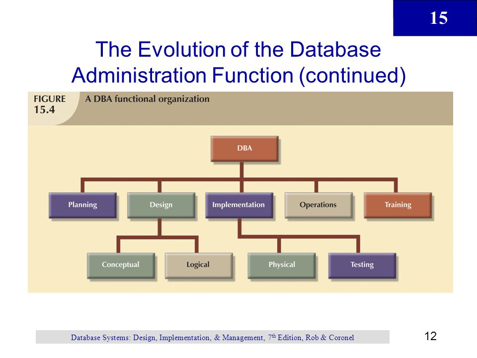 The Evolution of the Database Administration Function (continued)
