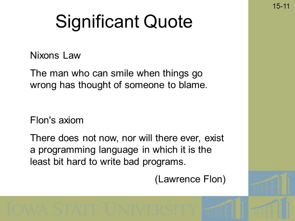 Significant Quote Nixons Law