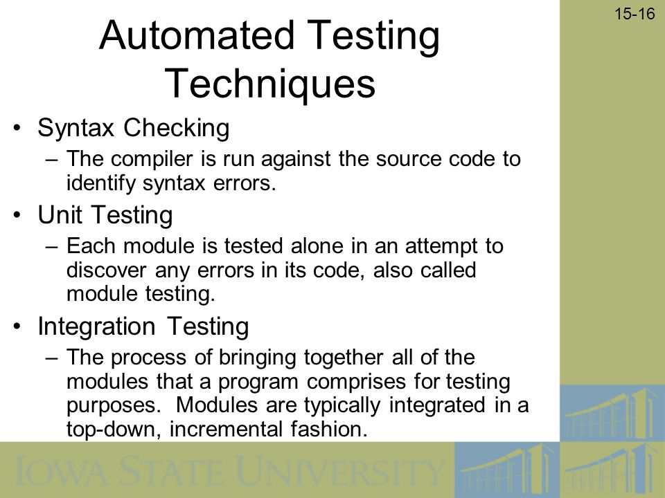 Automated Testing Techniques