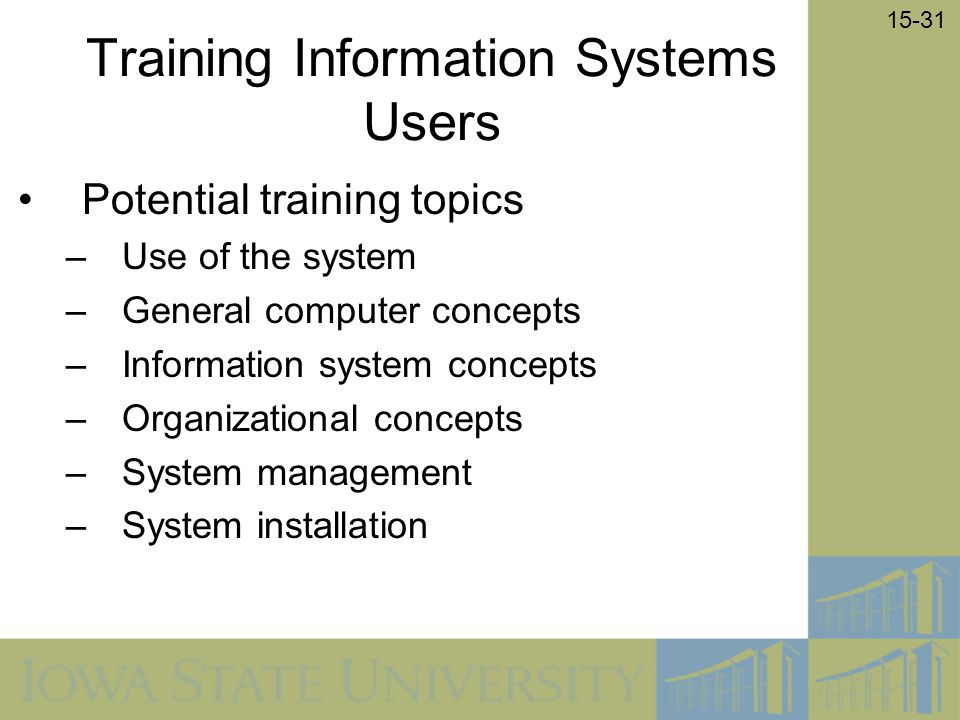 Training Information Systems Users