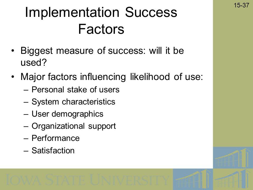 Implementation Success Factors