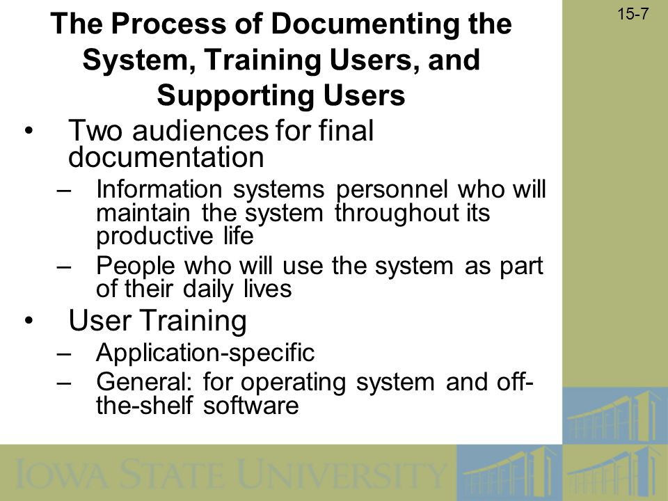 Two audiences for final documentation