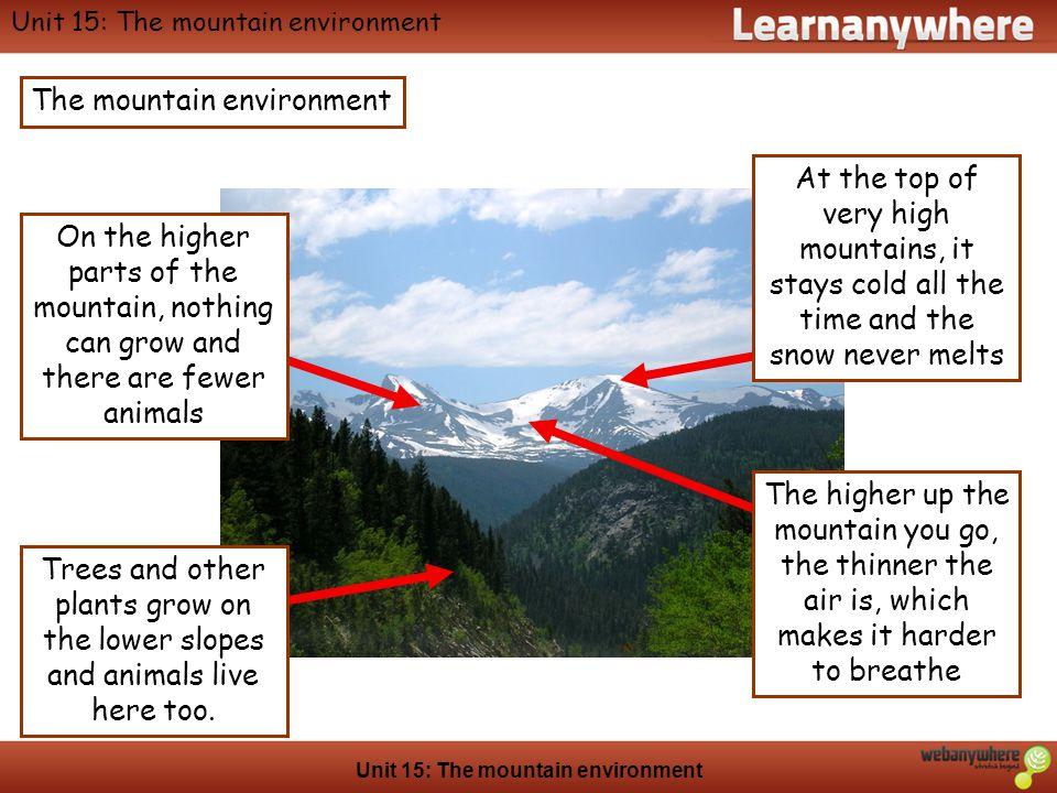 Unit 15: The mountain environment
