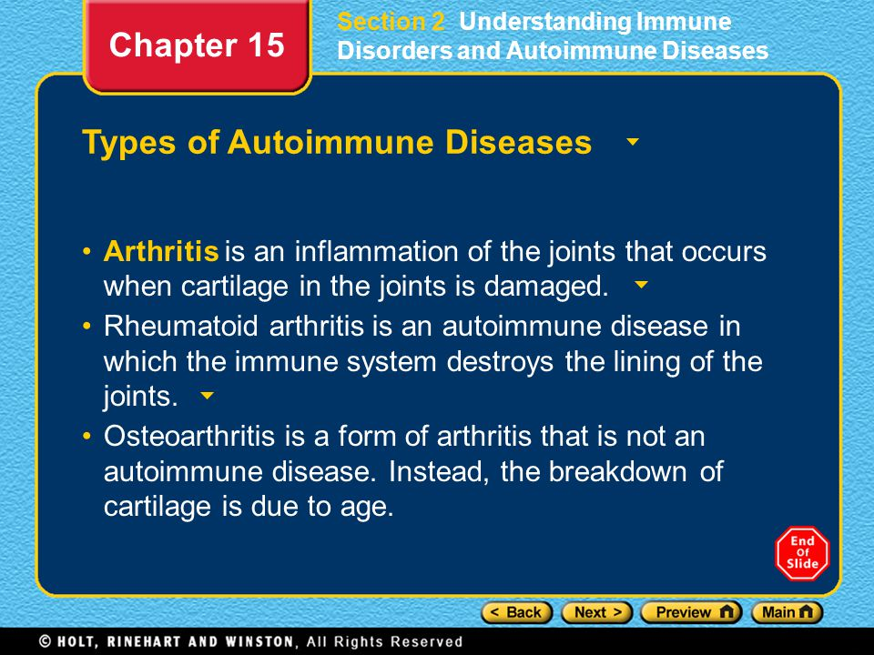 Types of Autoimmune Diseases