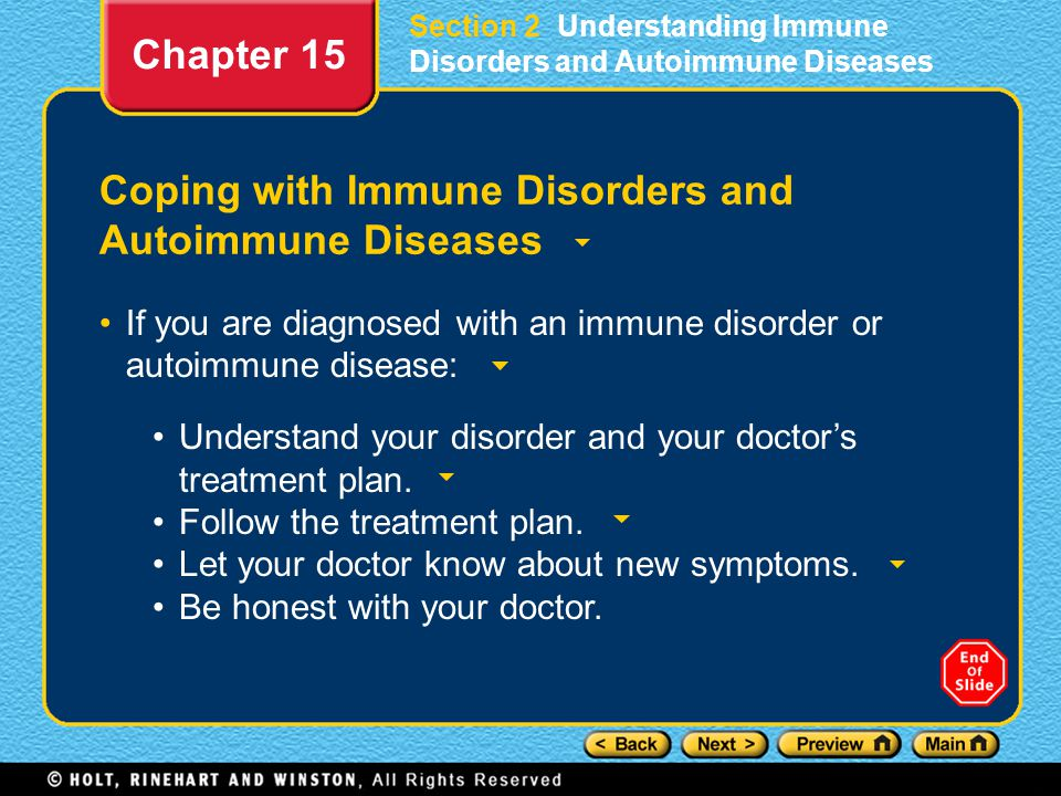 Coping with Immune Disorders and Autoimmune Diseases