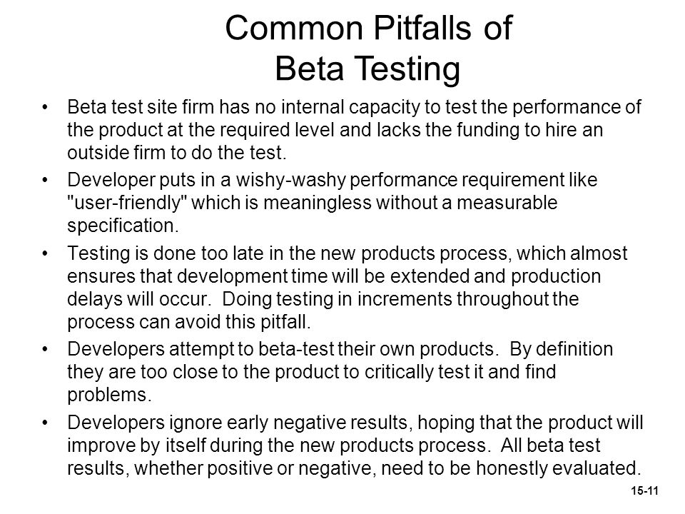 Common Pitfalls of Beta Testing