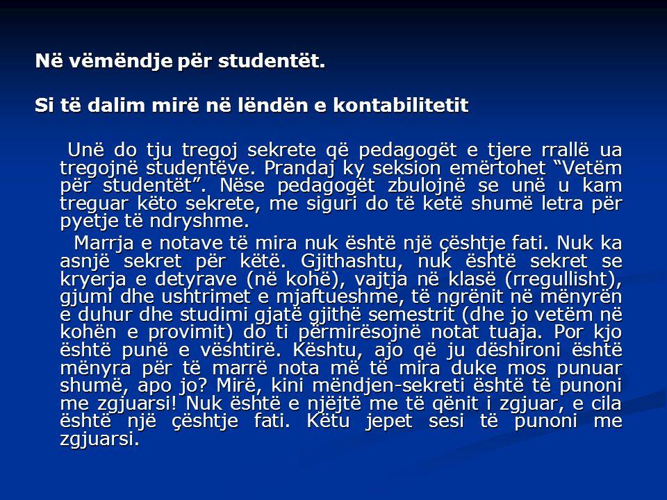 Në vëmëndje për studentët.