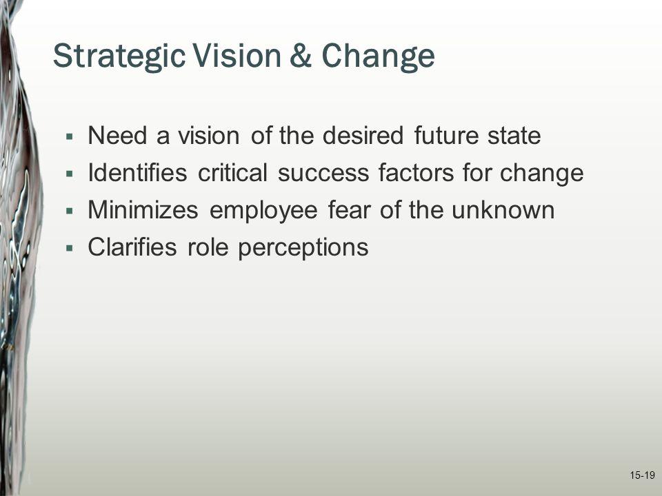 Strategic Vision & Change