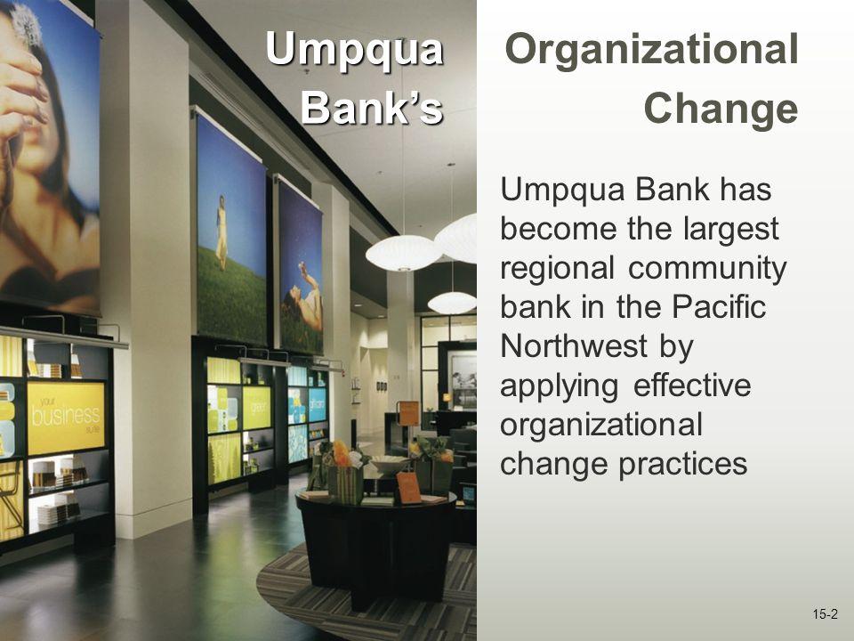 Umpqua Bank's OrganizationalChange