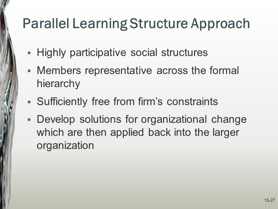 Parallel Learning Structure Approach