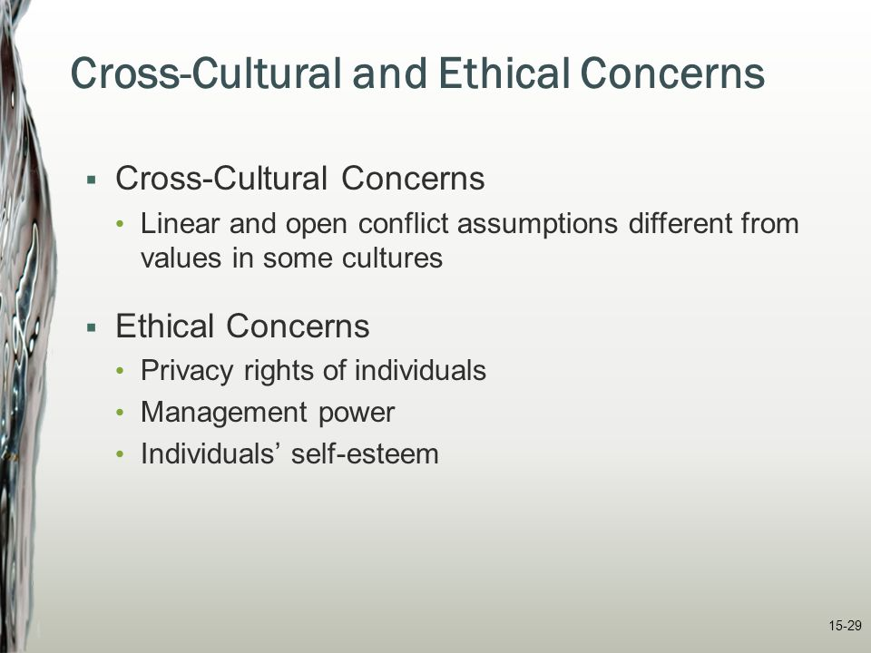 Cross-Cultural and Ethical Concerns