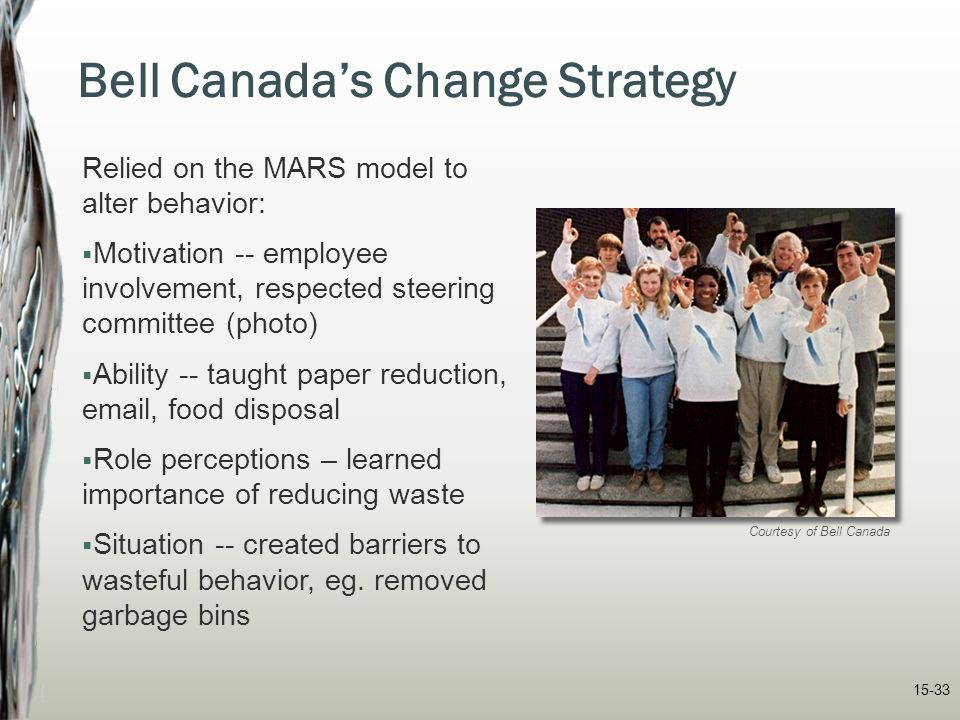 Bell Canada's Change Strategy