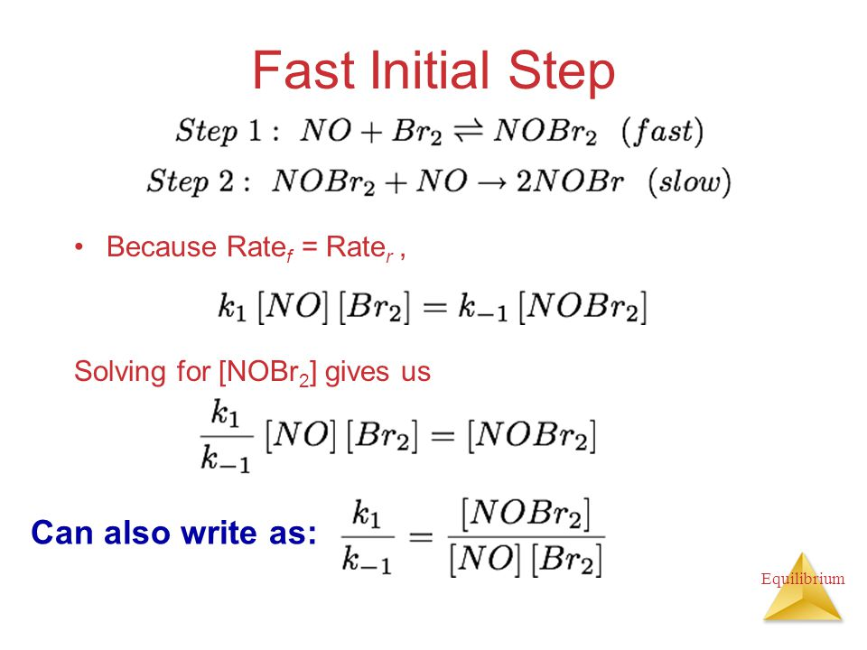 Fast Initial Step Can also write as: Because Ratef = Rater ,