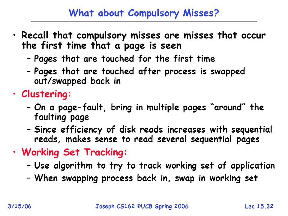 What about Compulsory Misses
