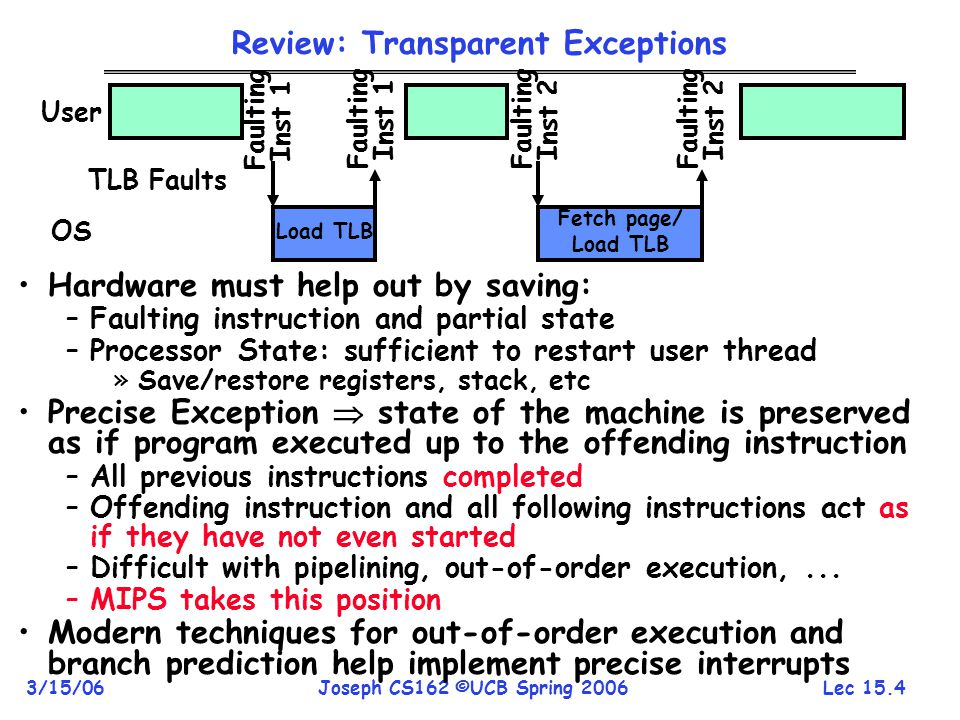 Review: Transparent Exceptions