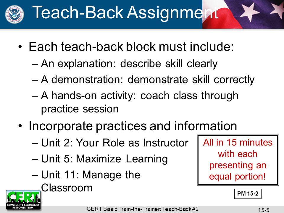 Teach-Back Assignment