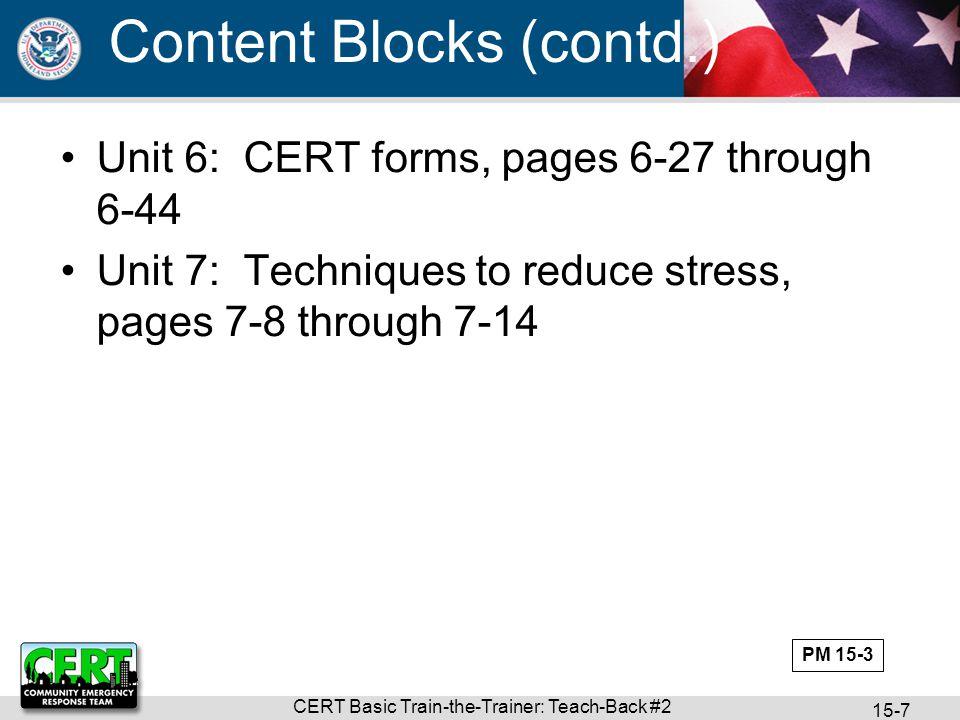 CERT Basic Train-the-Trainer: Teach-Back #2