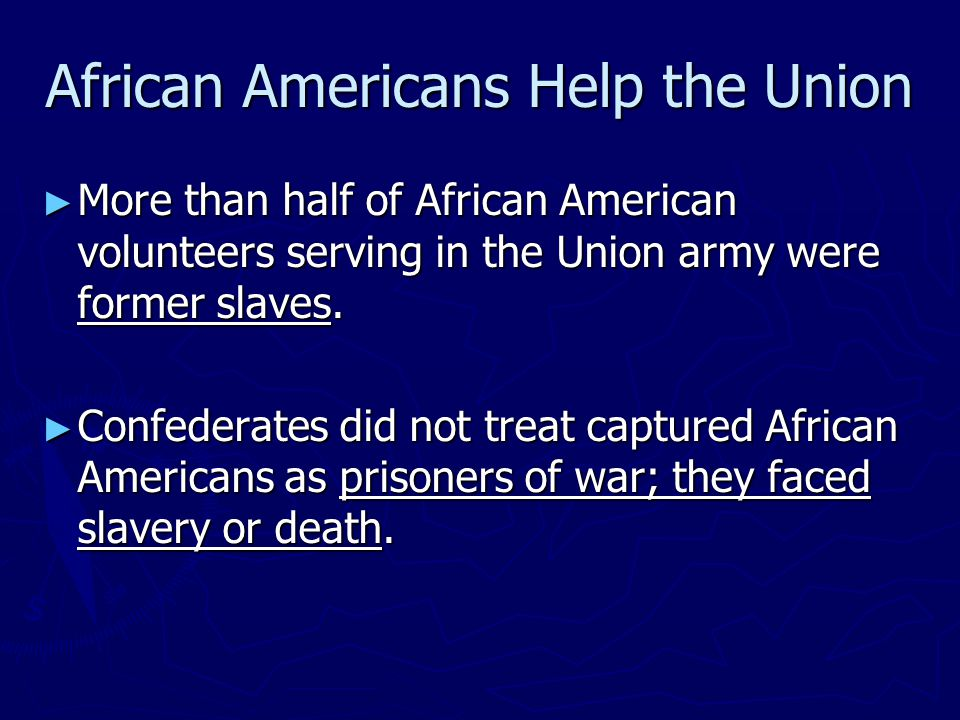 African Americans Help the Union