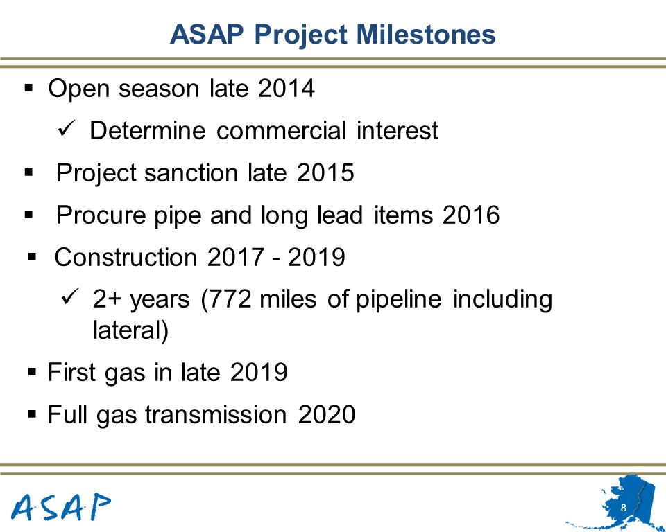 ASAP Project Milestones