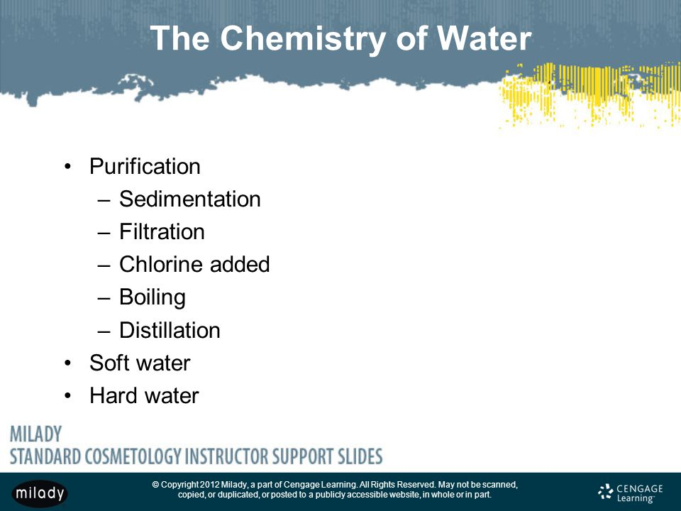 The Chemistry of Water Purification Sedimentation Filtration