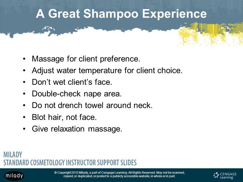 A Great Shampoo Experience