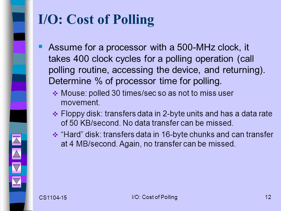 I/O: Cost of Polling