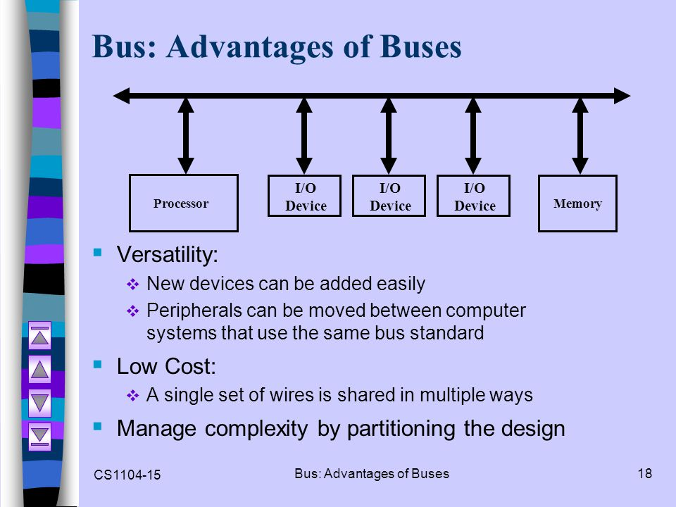 Bus: Advantages of Buses