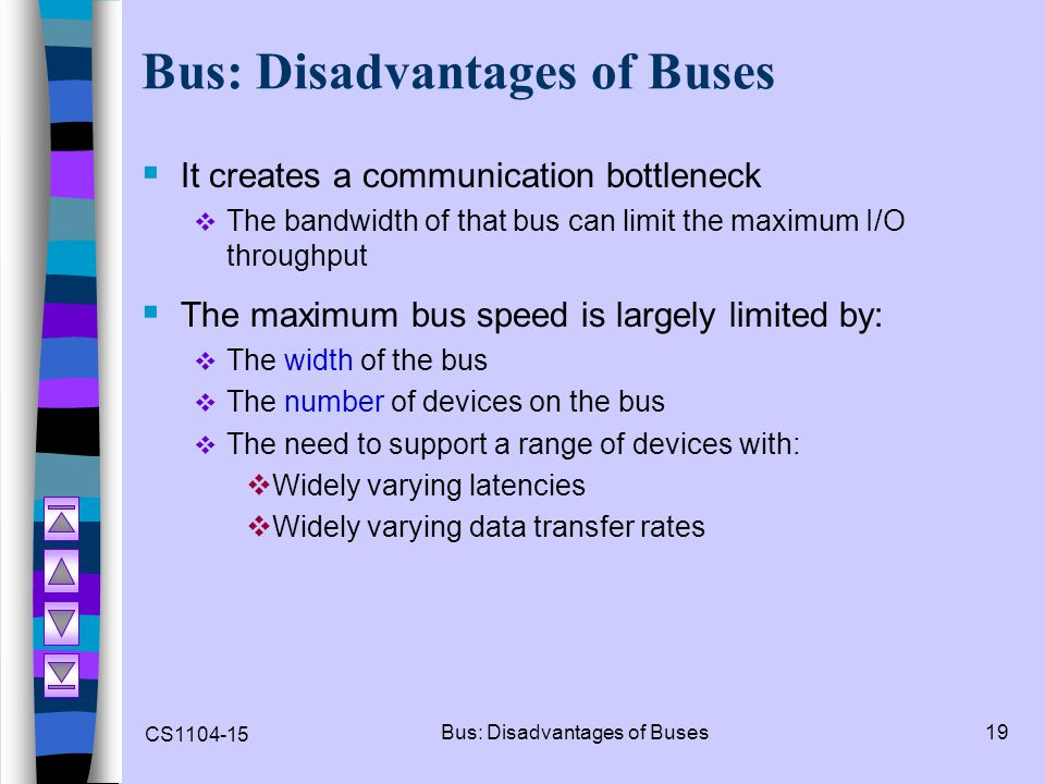 Bus: Disadvantages of Buses