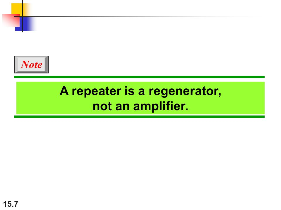 A repeater is a regenerator, not an amplifier.