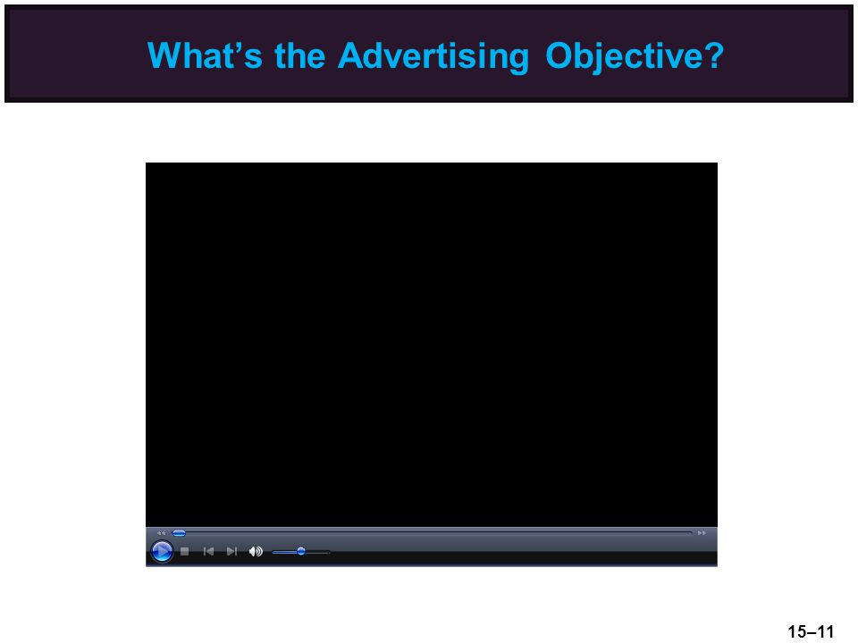 What's the Advertising Objective