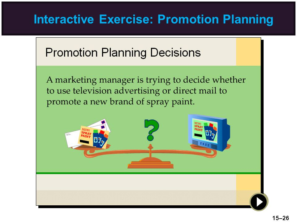 Interactive Exercise: Promotion Planning