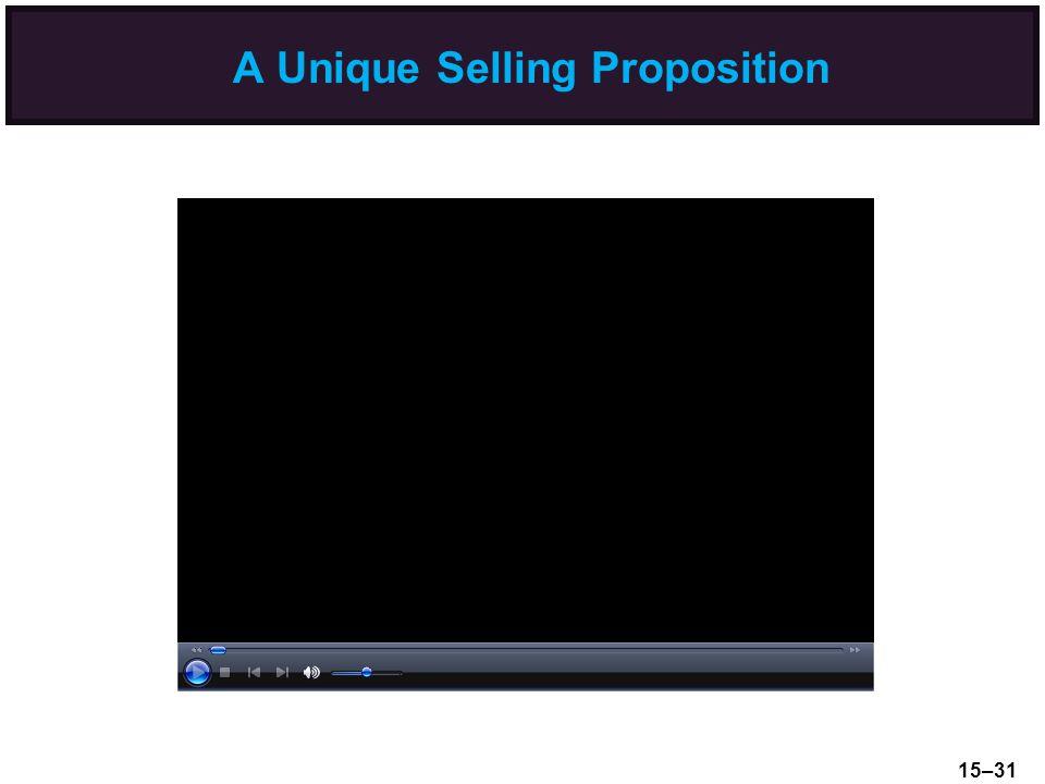 A Unique Selling Proposition