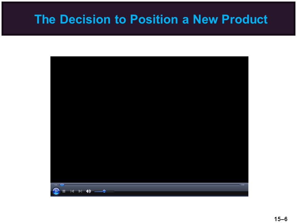 The Decision to Position a New Product