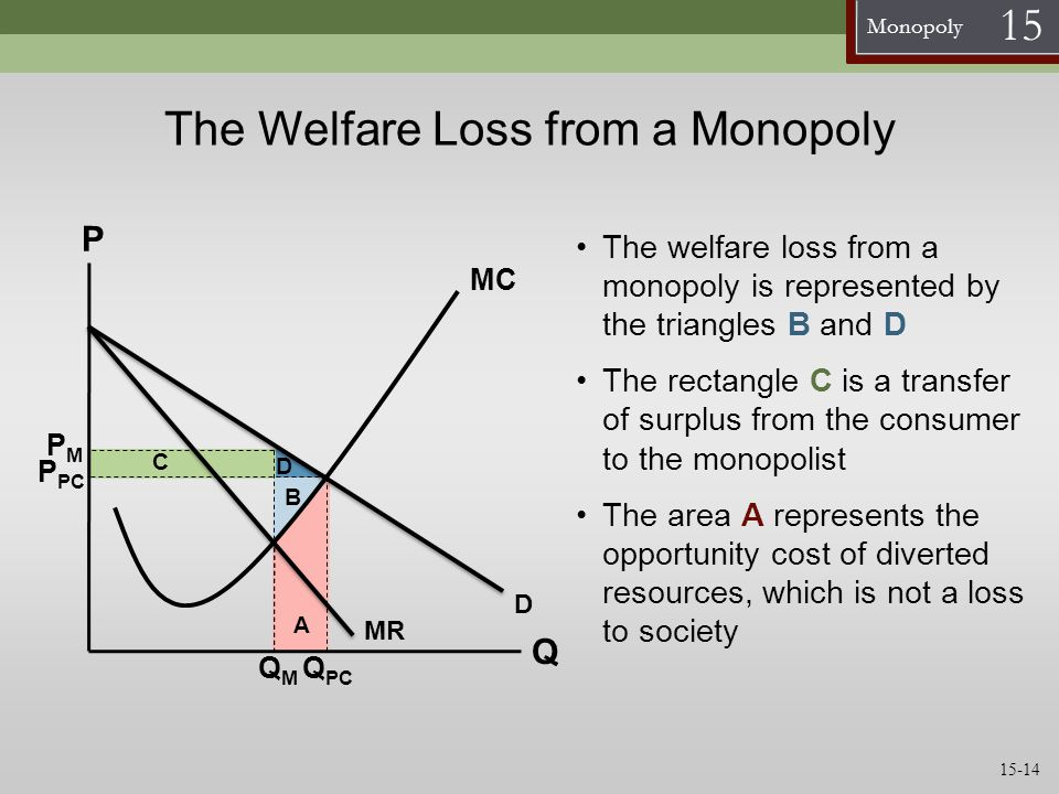 The Welfare Loss from a Monopoly
