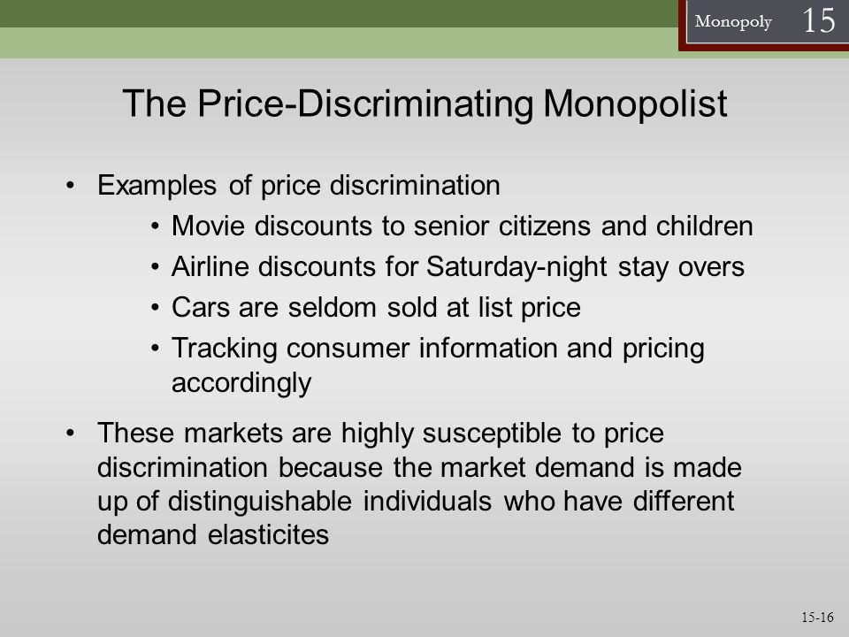 The Price-Discriminating Monopolist