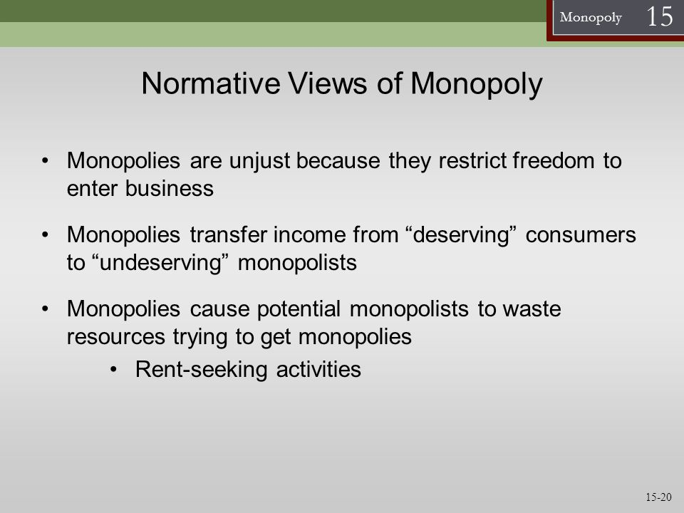 Normative Views of Monopoly