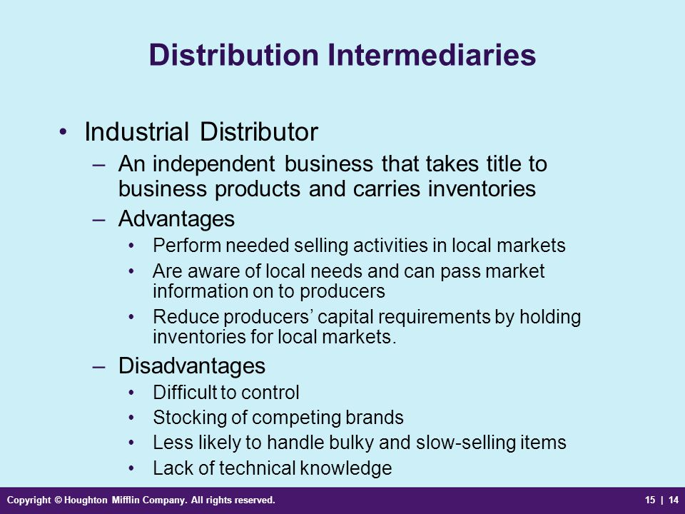 Distribution Intermediaries