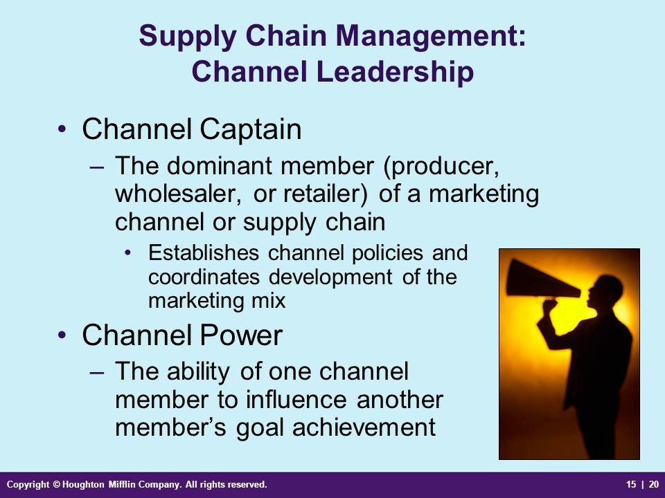 Supply Chain Management: Channel Leadership