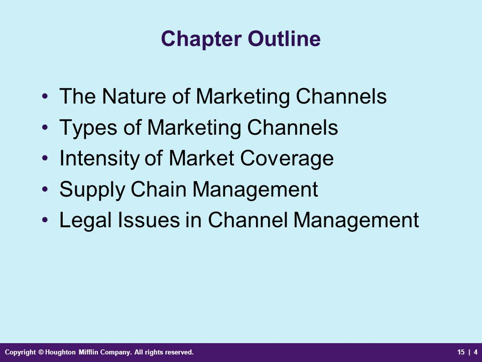 The Nature of Marketing Channels Types of Marketing Channels