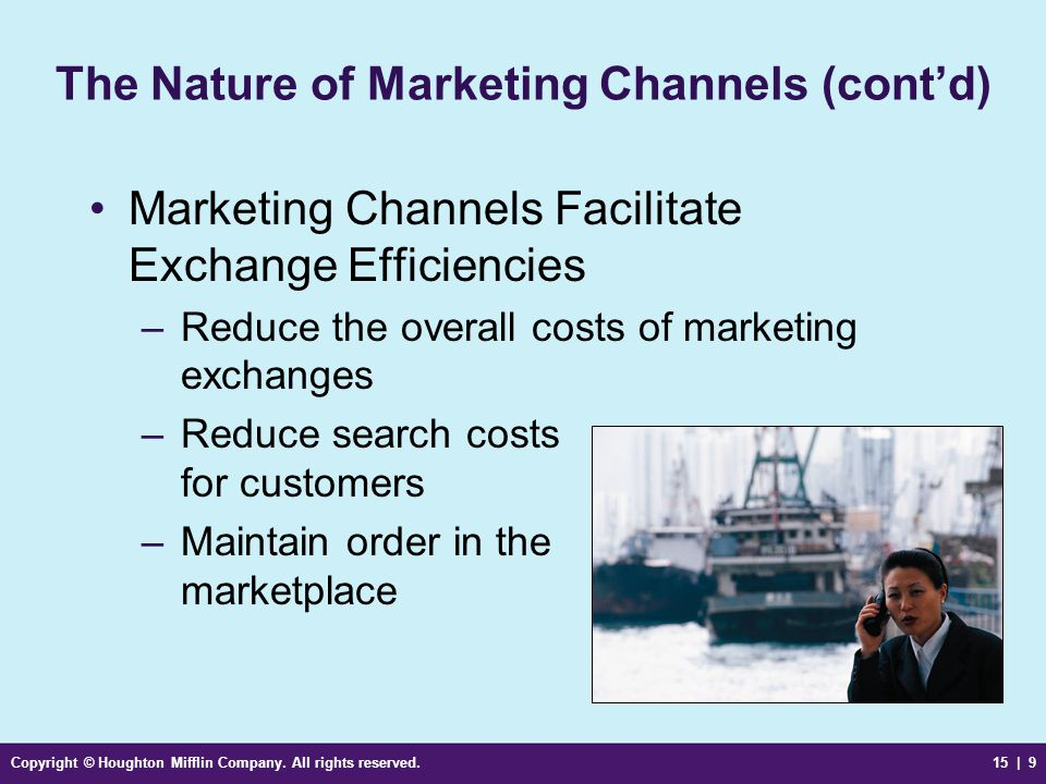 The Nature of Marketing Channels (cont'd)