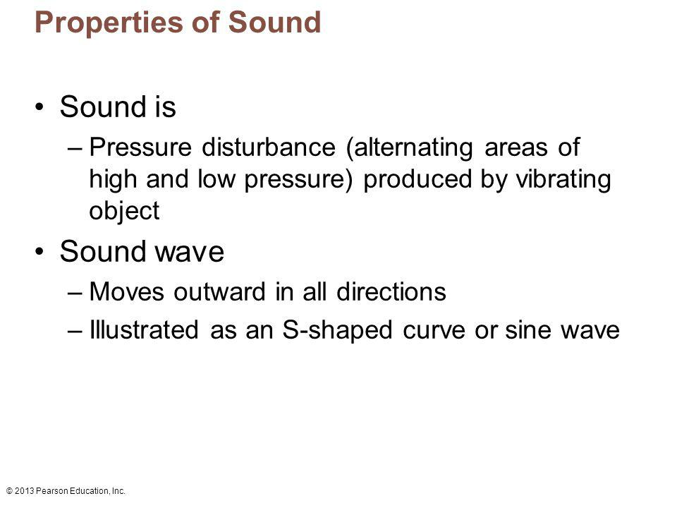 Properties of Sound Sound is Sound wave