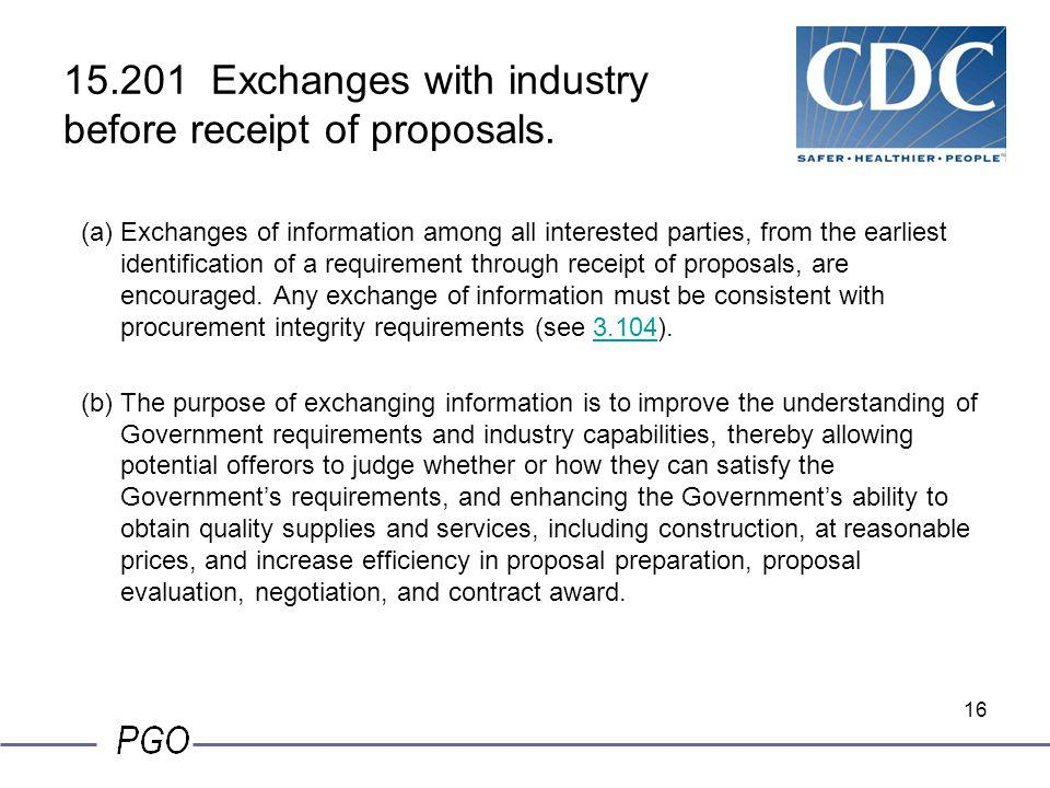 15.201 Exchanges with industry before receipt of proposals.