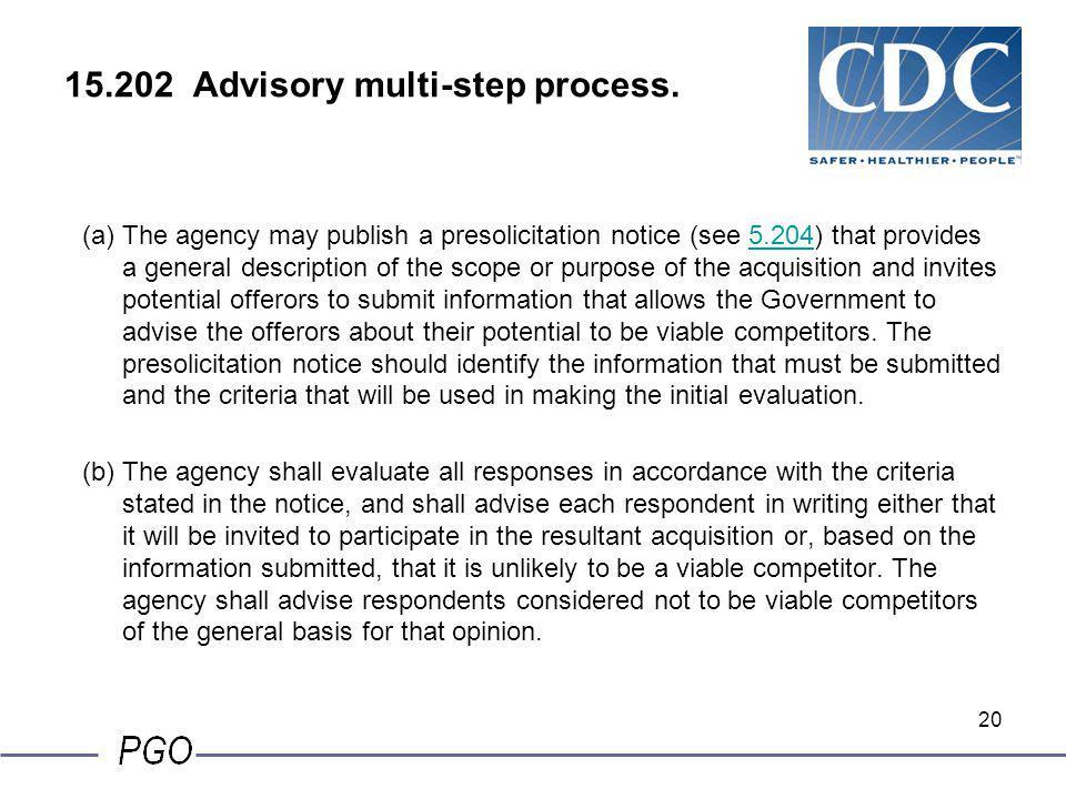 15.202 Advisory multi-step process.